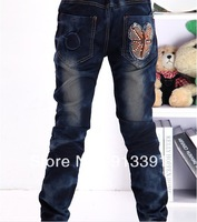 2013 new girls jeans female   Korean version of Mickey children jeans, Free Shipping