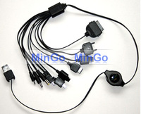 10 in 1 universal retractable usb charger cable for mobile phone cell phone