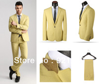 2014 New Branded Men Suits Casual Business Suits Designed Slim Fit Italian Style Tuxedo Wedding Suits Free Shipping 3 colors