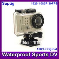 Portable 1080P Waterproof Car Bike Sports Helmet Action Dash Camera Cam dvr (like gopro )+170 wide Angle lens Camera FreeShiping