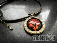 WOW, World of Warcraft Horde Necklace / Pendant, FOR THE HORDE, GOOD QUALITY, with GIFT BOX,  Fast Shipping