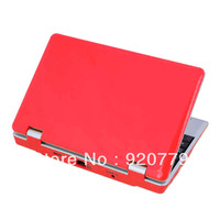 2013 Hot Sale 7 Inch  Android 4.0 HD Mini Notebook Laptop  PC Camera WiFi  3G HDMI Red Color