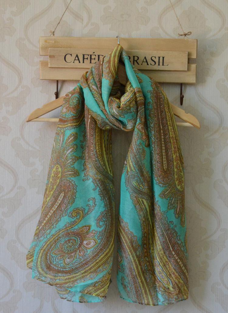 2013 New spring ladies' viscose scarf,Free shipping,long Women shawl,cashew nuts printing,bohemian style,viscose hijab,head wrap(China (Mainland))