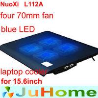 4 fans 70mm fan blue LED Light black color laptop cooling pad laptop cooler laptop cooling laptop radiator nuoxi L112A