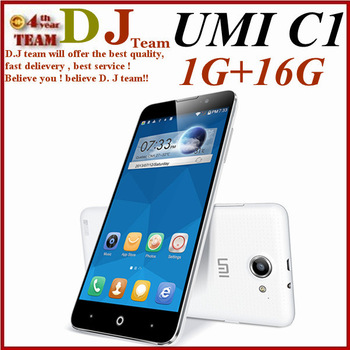 Umi C1 phone MTK6582 android 4.4 Quad Core 1.3GHz Android 4.4 3G 5.5'' HD IPS 1GB RAM 16GB ROM 8.0MP GPS WCDMA 3G 8.0 MP