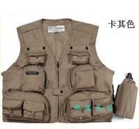 Free shipping!!!Multi-pocket photography vest multifunctional fishing vest multi-purpose outdoor vest