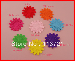 Free shipping wholesale multiple color 4.3cm Non-woven/felt flower patch as kids accessories,Garment accessories ornaments(China (Mainland))