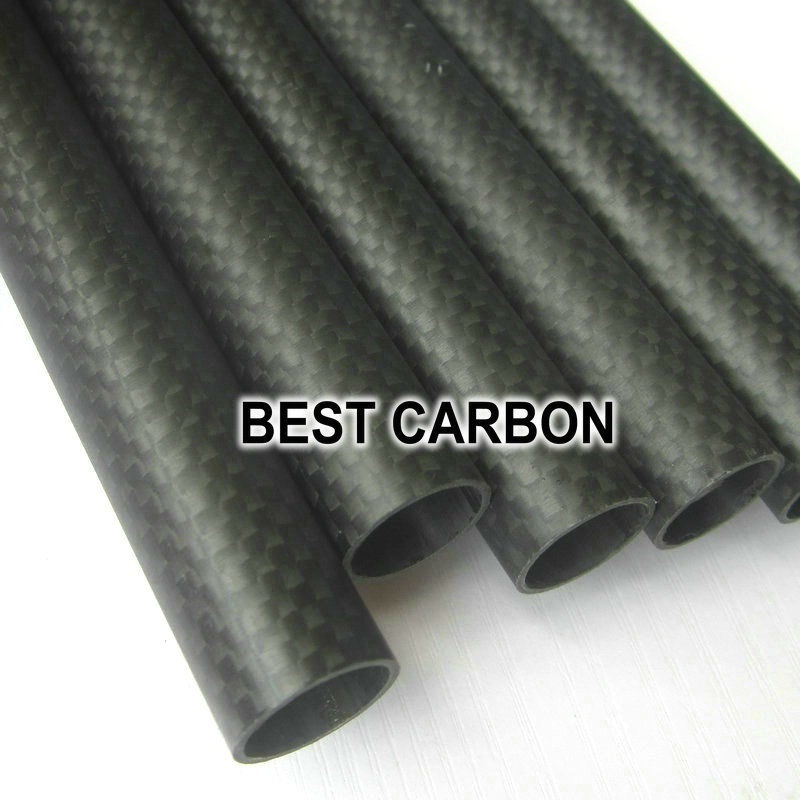 Free shiping 4pcs x 25mm x 23mm High Quality 3K Carbon Plain Fabric Matte Winded Tube,Tail Boom,Quadcopter tube(China (Mainland))