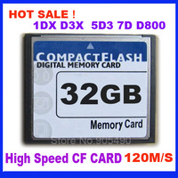 HOT SALE CF CARD 32GB  120M/S High Speed Compact Flash CF Card 32GB For 1DX 1D4 2D 5D3 7D D800