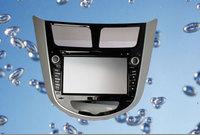 Hot 2 din car dvd with gps Navigation TV bluetooth Radio FM 3G optioal Russian menu language forHyunda Solaris Verna Car DVD GPS