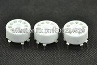 10pcs Ceramic 9pin PCB MOUNT vacuum tube socket FOR 12AX7 12AT7 12AU7  6DJ ECC82 tubes amplifiers