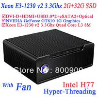 Mini Server with Xeon E3-1230 v2 3.3Ghz Quad Core 8 Threads Three cache 8M Turbo Boost Hyper-Threading Technology 2G RAM 32G SSD