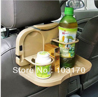 Free Shipping Auto table folding car pallet rear drink Cup holder Beverage holder auto Accessories