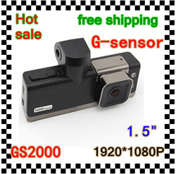 Full HD 1920*1080P 15FPS car black box GS2000 With video Codec+120 Degree+loop record(China (Mainland))