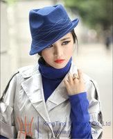 Free Shipping  Fashion Pure Women Wool Hat Women Fedoras Winter Hat Chapeau Millinery 100% Wool Fabric Bucket Cloche