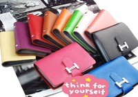 Free Shipping 2013 Newest genuine  Leather Wallet Credit Card Bank Card Holder Card Wallet Card Package Factory Directly