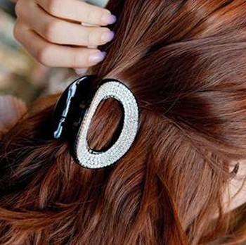 Free shipping wholesale fashion rhinestone hair claw clip women hair grips crystal hair accessories