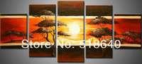 Landscape Wall Paint Art Handpainted Large Oil Painting on Canvas Decor Sunset Picture pt212