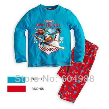 Free Shipping baby girl's classical design pajamas set baby sleepwear boy's long sleeve top+pants cotton homewear 6sets/lot
