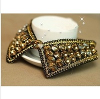 Min.order is $15 (mix order)  2013 fashion women sweater collars vivi magazine autumn&winter diamond handmade collars