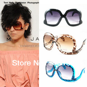 5PCS/Lot Retro Bent Legs Square Fashion Sunglasses Down Frame Sunglasses Super Star Sunglasses Free Shipping