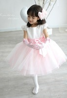 50% OFF!! 2014 new girl's princess wedding dress female Children's one-piece dress baby girl new year party ball flower dress