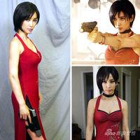 Resident Evil Resident Evil Ada Wong Costume Cosplay Dress Gun Packet Necklace Ribbon Custom-Made Girl Cosplay Chinese Cheongsam
