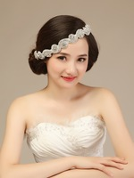 F070 - multipurpose Rhinestone beading headpiece and belt for bridal wedding dress