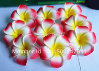 free shipping 50pcs Large 6CM Red  Fabulous Hawaiian foam frangipani flowers wedding party decor