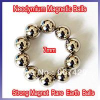 Free Shipping 10pcs/lot Neodymium Rare Earth Balls Beads Magnetic Spheres Balls Beads,Diameter:7mm