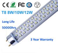 Free shipping 4pcs/lot T5/T8 60CM 8W/10w/12w 3 years warranty  CE ROHS FCC TUV PSE