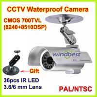 Freeshipping 700TVL 1/3 CMOS Security Surveillance Outdoor CCTV Camera 36 IR LEDs Day Night Vision Waterproof With Bracket Screw