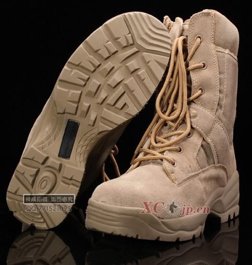 NEW 2014 Desert Men's Military boots High-Leg Zipper Boots Combat Tactical desert Shoes Flight Shoes/Camp Boots, EU 39-44(China (Mainland))