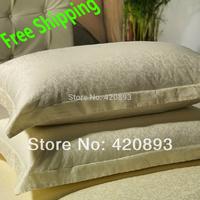 Free Shipping 300TC Jacquard 4PCS Bedding Set Home Textile Duvet Cover Set Bed Sheet Queen Size