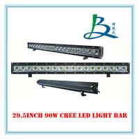 90W single row high power led off road light bars,18pcsX5W OFFROAD LED light,LED WORK LIGHT CREE!