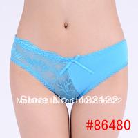women cotton lace many color size sexy underwear/ladies panties/lingerie/bikini underwear pants/ thong/g-string 6480-1pcs