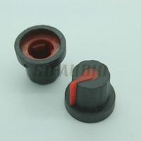 10PCS Double colors black+red guitar amp effect pedals Rubber knobs 16*14mm