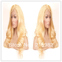 FREE SHIPPING!!! HOT SALE!! Lady's hair Wavy Malaysian virgin human hair Cheap and Best Front lace wig