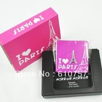 Girls necessary item mini folding lovely pocket makeup Mirror,Christmas Gift,Valentine's Gift, free shipping 1pcs/lot