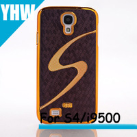 Free shipping Hot selling S line stick lagging electroplate football grain leather case For Samsung Galaxy s4 i9500