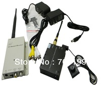 Pinhole button wireless 1.2G 5000 mW Video Transmission Set  Wireless remote transmission equipment 1.2G 5w