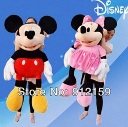 Free shipping(China post),retailsale,50cm 2pes/lot ,mickey and minnie Plush toy ,baby soft toy ,2kinds ,45cm hight(China (Mainland))
