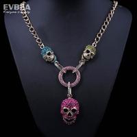 skull jewelry for women crystal multi colore necklace skeleton women costume skull pendant necklace cute skeleton necklace