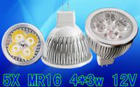 5x Dimmable 12W MR16 High Power LED Light Bulb Spot Lamp Spotlight Downlight LED Lighting Free shipping
