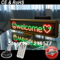 Rechargeable Battery powered 12V Mini Led Display/Led message Board/Car Led Sign/Cigarette Lighter