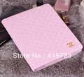 Hot selling deluxe flip pouch luxury leather double c wallet cover case for iphone ipad 2 3 4 mini, free shipping retail package(China (Mainland))
