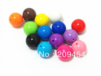 Factory Price 20mm100pcs/lot Mix Color Acrylic  Solid Beads