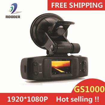 100% original Full HD 1080P Car DVR Car video Recorder with GPS logger G-sensor H.264 4 IR light GS1000 Ambarella