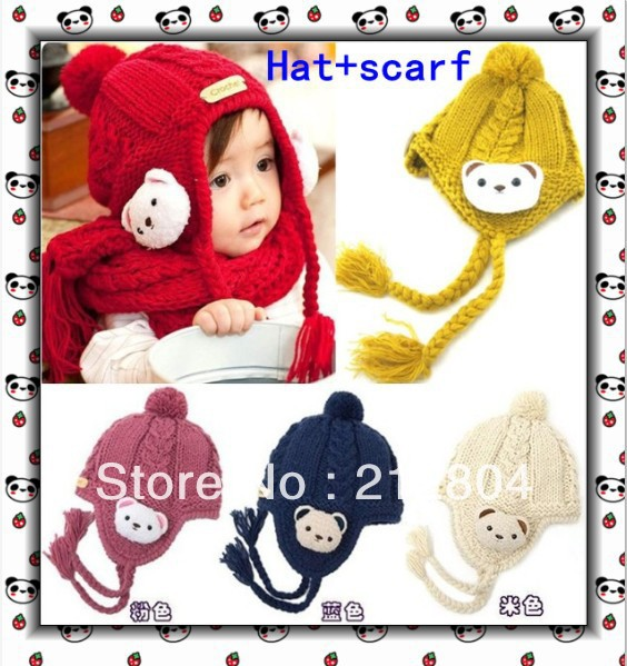 Free Shipping bear ear protector baby hat,baby hats,baby caps Wholesale and retail crochet newborn hat JHB-282(China (Mainland))