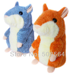 2013 New Russian Video Version Early Learning Talking Hamster Plush Toy for Kids(China (Mainland))
